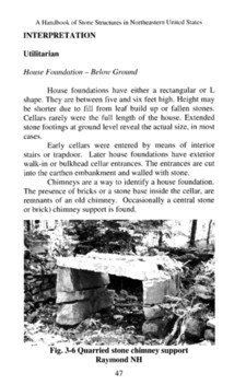 Handbook of Stone Structures Lintle Chimney support