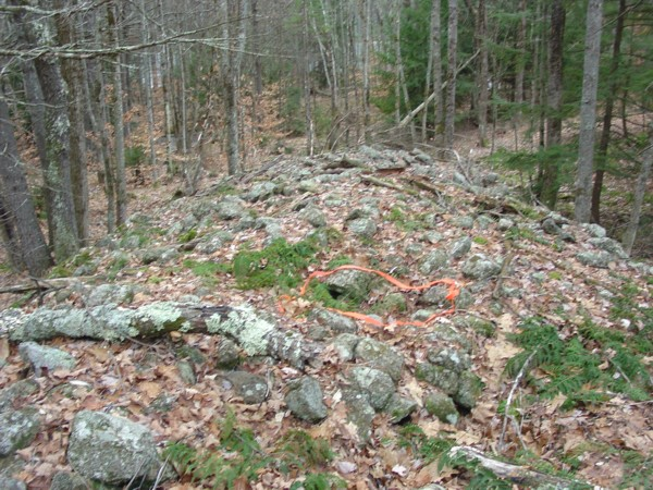 Northwood State Park NH Large Stone Cairn With Multiple Depressions