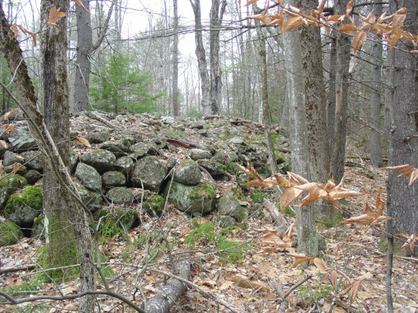 Northwood State Park NH Native American Stone Cairn