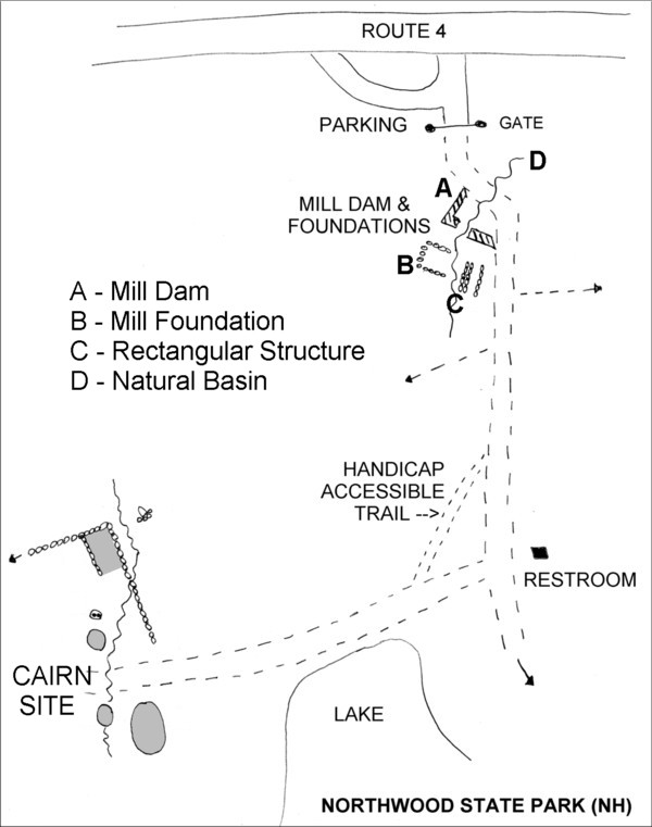 Northwood State Park Nh Mill Site Map