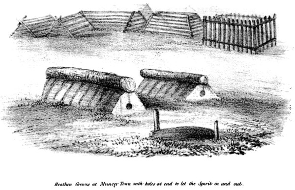 Ojibway Historic Graves with Spirit holes