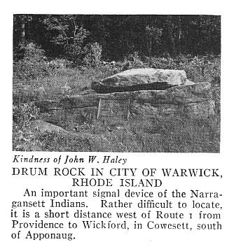 """Drum Rock"" - Perched, Pedestal Boulder, or Balanced Boulder Warick, RI"