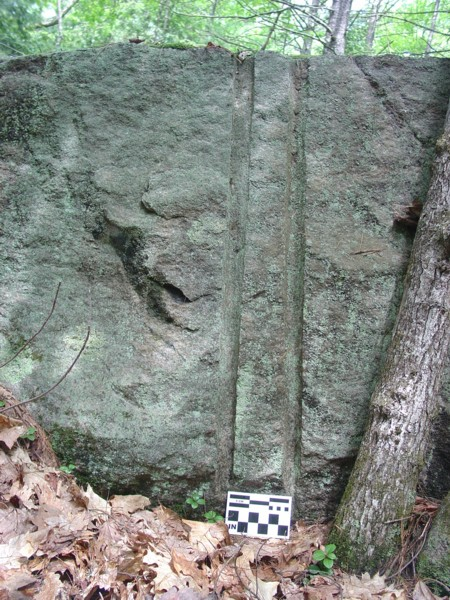 Pair of blast holes in quarry Milton NH