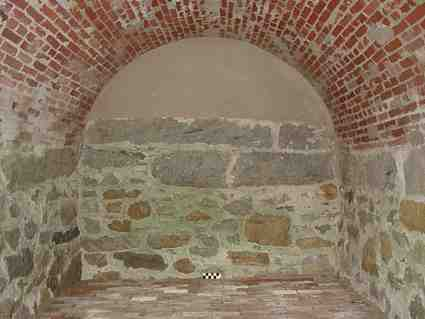 1843 Brick Arched Root Cellar Interior New London CT